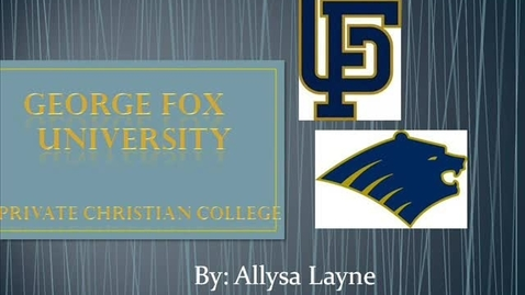 Thumbnail for entry George Fox University