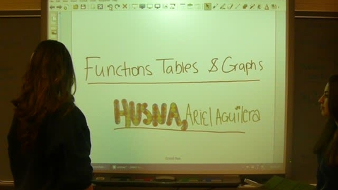 Thumbnail for entry Functions, Table and Graphs