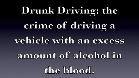 Thumbnail for entry Drunk Driving