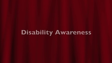 Thumbnail for entry Disability Awareness