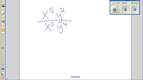 Thumbnail for entry Dividing terms with exponents example 1