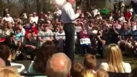 Thumbnail for entry Mitt Romney in Kirkwood, MO