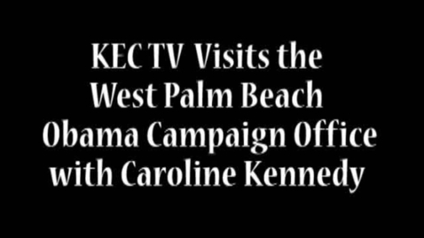 Thumbnail for entry Student Interview with Caroline Kennedy & Visiting an Obama Office