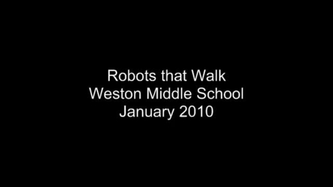 Thumbnail for entry Robots that Walk