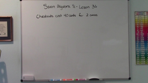 Thumbnail for entry Saxon Algebra 1/2 - Lesson 36 - Rate Word Problems