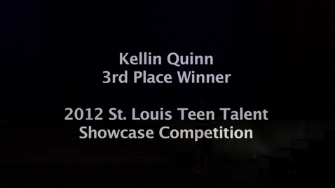 Thumbnail for entry Kellin Quinn: 3rd place winner of St. Louis Teen Talent Showcase