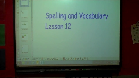 Thumbnail for entry 4th - Spelling lesson 12