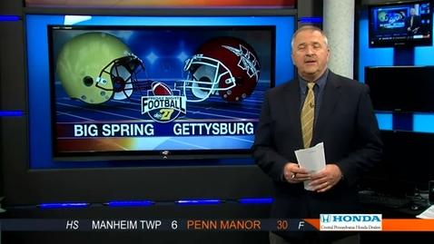Thumbnail for entry ABC27 Friday Nite Football 10/12/12 Gettysburg vs Big Spring