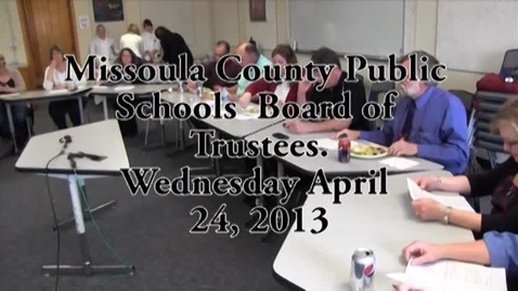 Thumbnail for entry MCPS Personnel, Negotiations and Policy Committee, April 24, 2013