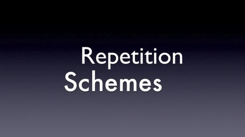 Thumbnail for entry Schemes: Repetition 2