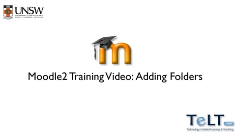 Thumbnail for entry Moodle adding a folder