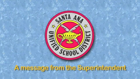Thumbnail for entry Superintendent's Message to Staff - October 2012 SAUSD