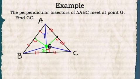 Thumbnail for entry Math 1: Perpendicular Bisectors and Circumcenters 2
