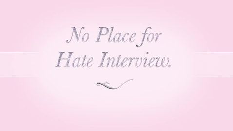Thumbnail for entry No Place Hate Interview