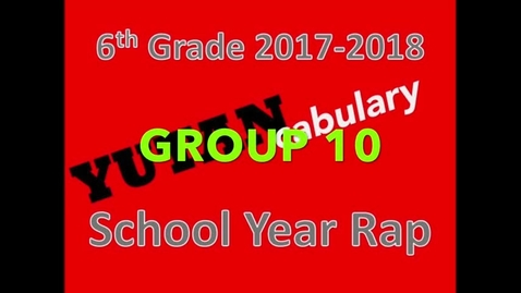 Thumbnail for entry Yutan School Year Rap 2017-2018