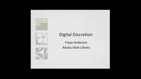 Thumbnail for entry OWL Videoconference: DIgitial Discretion