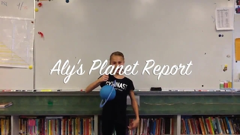 Thumbnail for entry Aly's Planet Report