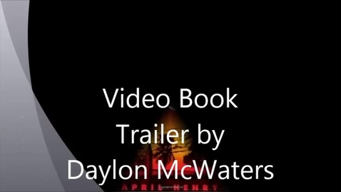 Thumbnail for entry Shock Point by April Henry Video Book Trailer by Daylon McWaters