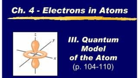 Thumbnail for entry Chemistry Chapter 4.2a