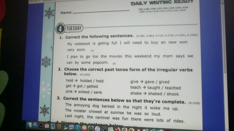 Thumbnail for entry Daily READING and WRITING Ready 1:26