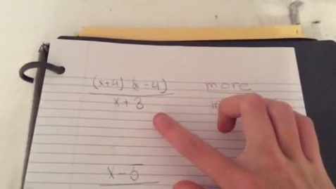 Thumbnail for entry Finding Horizontal Asymptotes