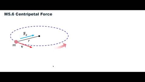Thumbnail for entry Clip of M5.6 Centripetal Force