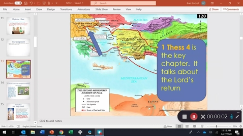 Thumbnail for entry 1 Thessalonians 4: the HARPADZO ; the Rapture!