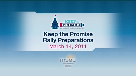 Thumbnail for entry Preparations for the Keep the Promise Rally