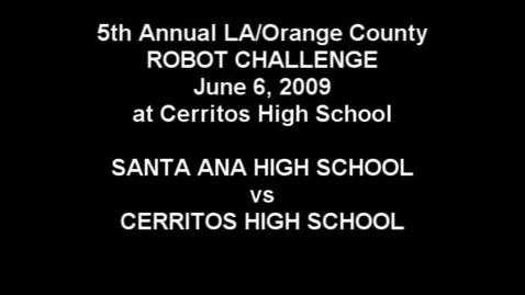 Thumbnail for entry 2009 LA/OC Robot Challenge
