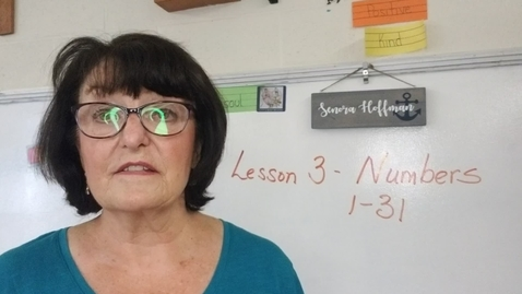 Thumbnail for entry Lesson 3 Numbers 1 to 31