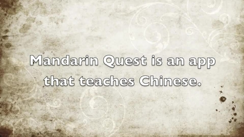 Thumbnail for entry App And Website Review - Mandarin Quest