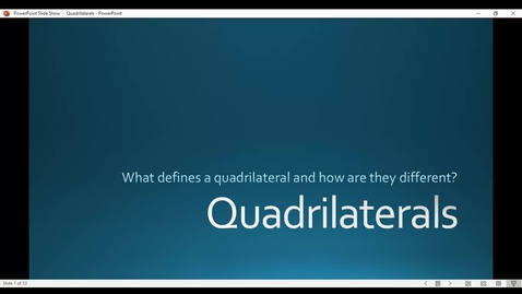Thumbnail for entry Quadrilaterals PowerPoint