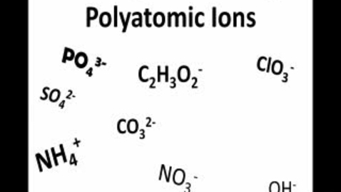 Thumbnail for entry Polyatomic ionic Compounds