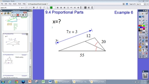 Thumbnail for entry 9.4 Proportional Parts Example #6