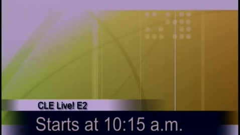 Thumbnail for entry CLE Live! E2 (Elementary Edition) Oct. 13, 2009