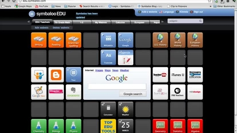 Thumbnail for entry How to search and find useful widgets in Symbaloo