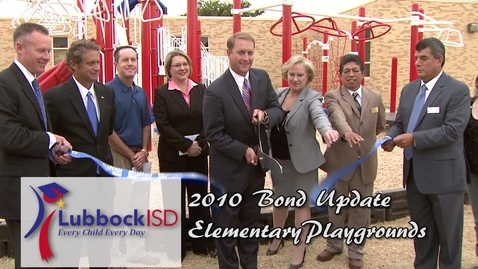 Thumbnail for entry 2010 Bond Playground Ribbon Cutting