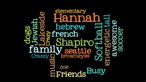 Thumbnail for entry Autobiography -- Hannah -- Mon 2