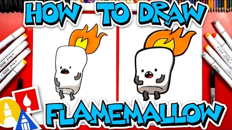 Thumbnail for entry How To Draw Flamemallow From YouTube Kids App