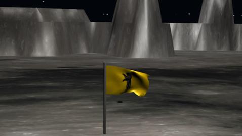 Thumbnail for entry magic flag on the moon