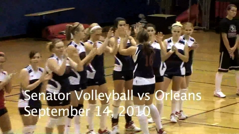 Thumbnail for entry Senator Volleyball vs Orleans 9/14/10