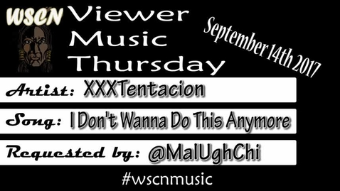 Thumbnail for entry WSCN 09.14.17 - Viewer Music Thursday