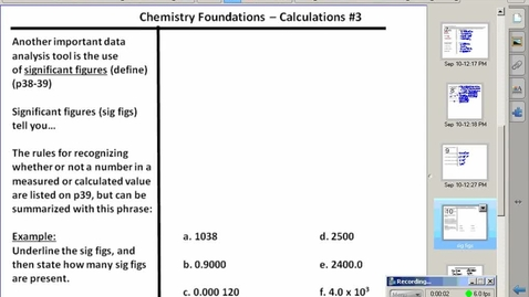 Thumbnail for entry Stephens Pre-AP Chemsitry: (9/4/15) Significant Figures