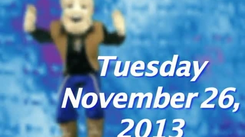 Thumbnail for entry Tuesday, November 26, 2013