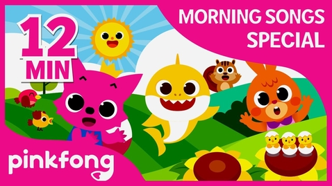 Thumbnail for entry Morning Song and more | Get Ready with Pinkfong | +Compilation | Pinkfong Songs for Children