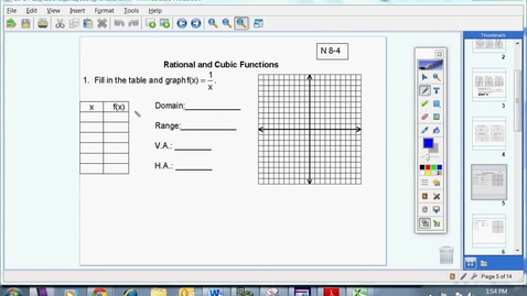 Thumbnail for entry Rational and Cubic Functions