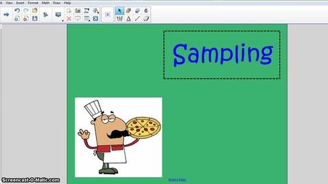 Thumbnail for entry Sampling