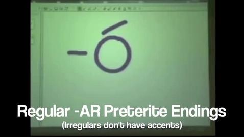 Thumbnail for entry Preterite Endings