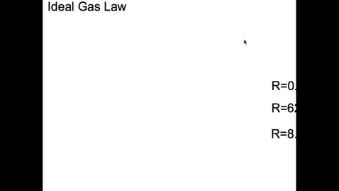 Thumbnail for entry Gas Laws Vodcast 3
