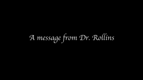 Thumbnail for entry Dr. Jim Rollins: message about school safety